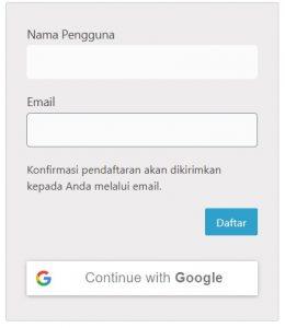 Daftar akun dengan google Inspiring menulis - inspiring my id